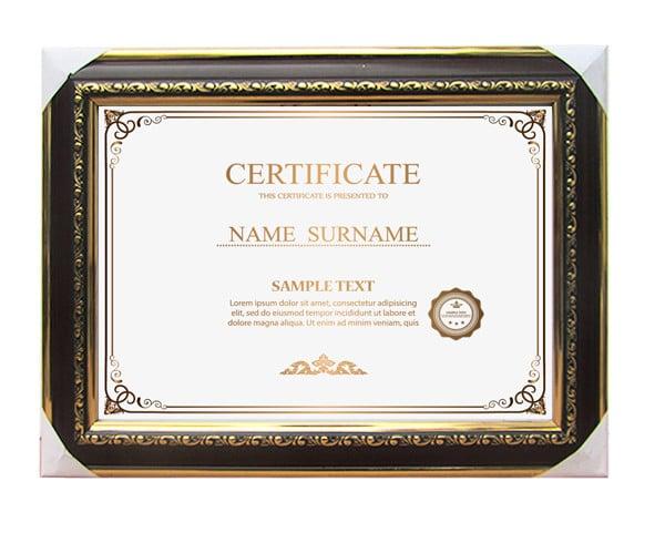Khung giấy chứng nhận màu trám vàng sang trọng BK03