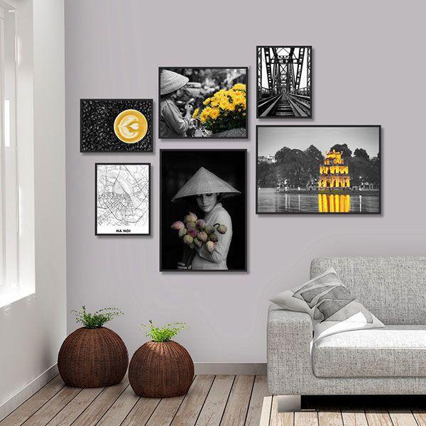 Tranh đơn nghệ thuật hươu vàng CV01A086