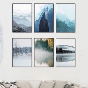Bộ 6 khung tranh treo tường cảnh thiên nhiên ms0621