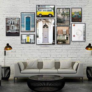 Bộ 9 khung tranh treo tường phòng khách ms093