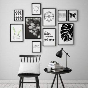 Bộ 10 khung tranh treo phòng khách ms101