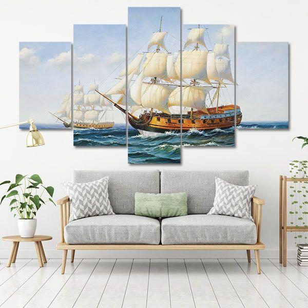Kết quả hình ảnh cho Tranh canvas thuận buồm xuôi gió